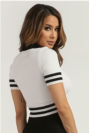 Rehab Ribbed Crop Top - Side cropped