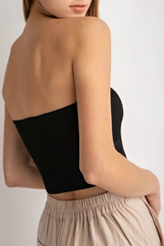 Pretty Little Things Ribbed Crop Top - Front full body