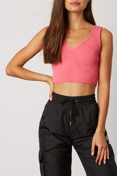 Cotton Candy Ribbed Crop Top - Alternate List Image