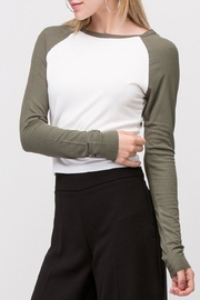 Double Zero Ribbed Crop Top - Front full body