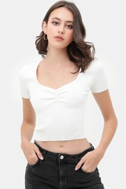 Love Tree  Ribbed Crop Top w/ Scrunch Detail - Product Mini Image