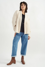Look Ribbed Cropped Ivory - Product Mini Image