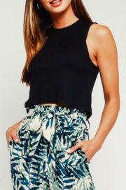 Olivaceous Ribbed Cropped Tank Top - Product Mini Image