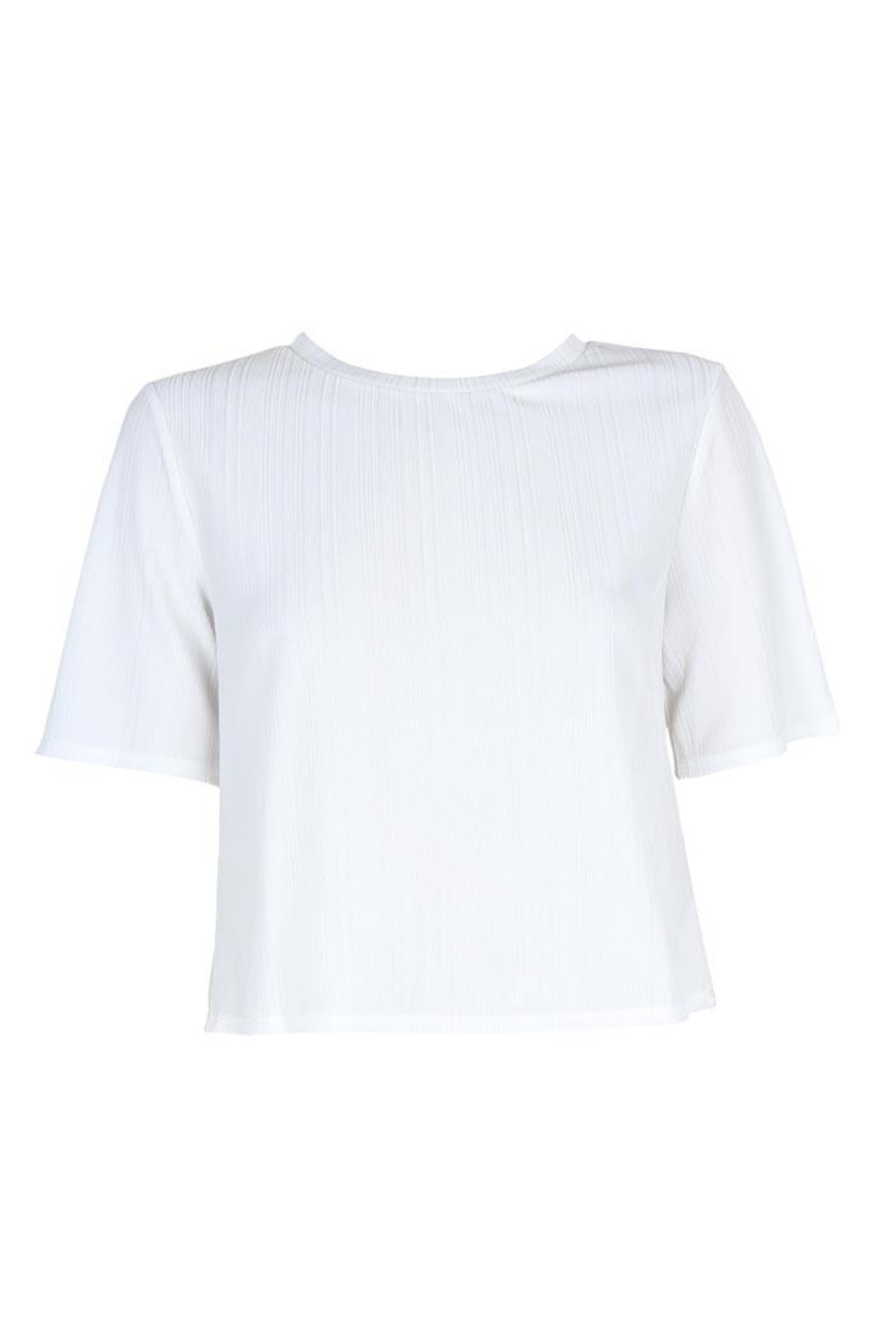 MinkPink Ribbed Cropped Tee - Side Cropped Image