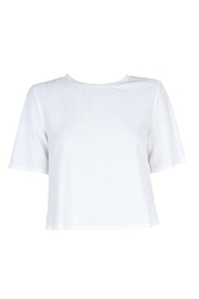 MinkPink Ribbed Cropped Tee - Side cropped