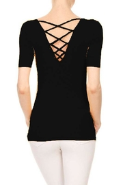 ambiance apparel Ribbed Cross-Back Top - Product Mini Image