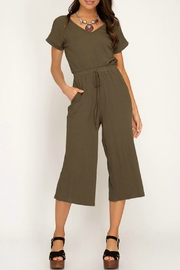 She & Sky  Ribbed Culotte Jumpsuit - Product Mini Image