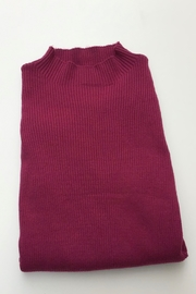 Meli by FAME RIBBED DIAGONAL SWEATER - Front cropped