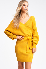 MONTREZ Ribbed dolman sleeve sweater dress - Product Mini Image