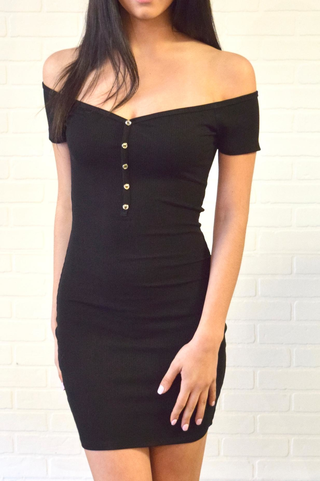Better Be Ribbed Dress - Front Cropped Image
