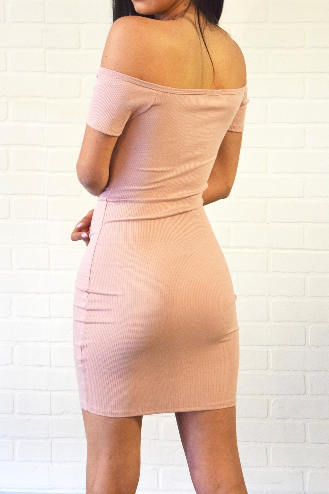 Better Be Ribbed Dress - Side Cropped Image