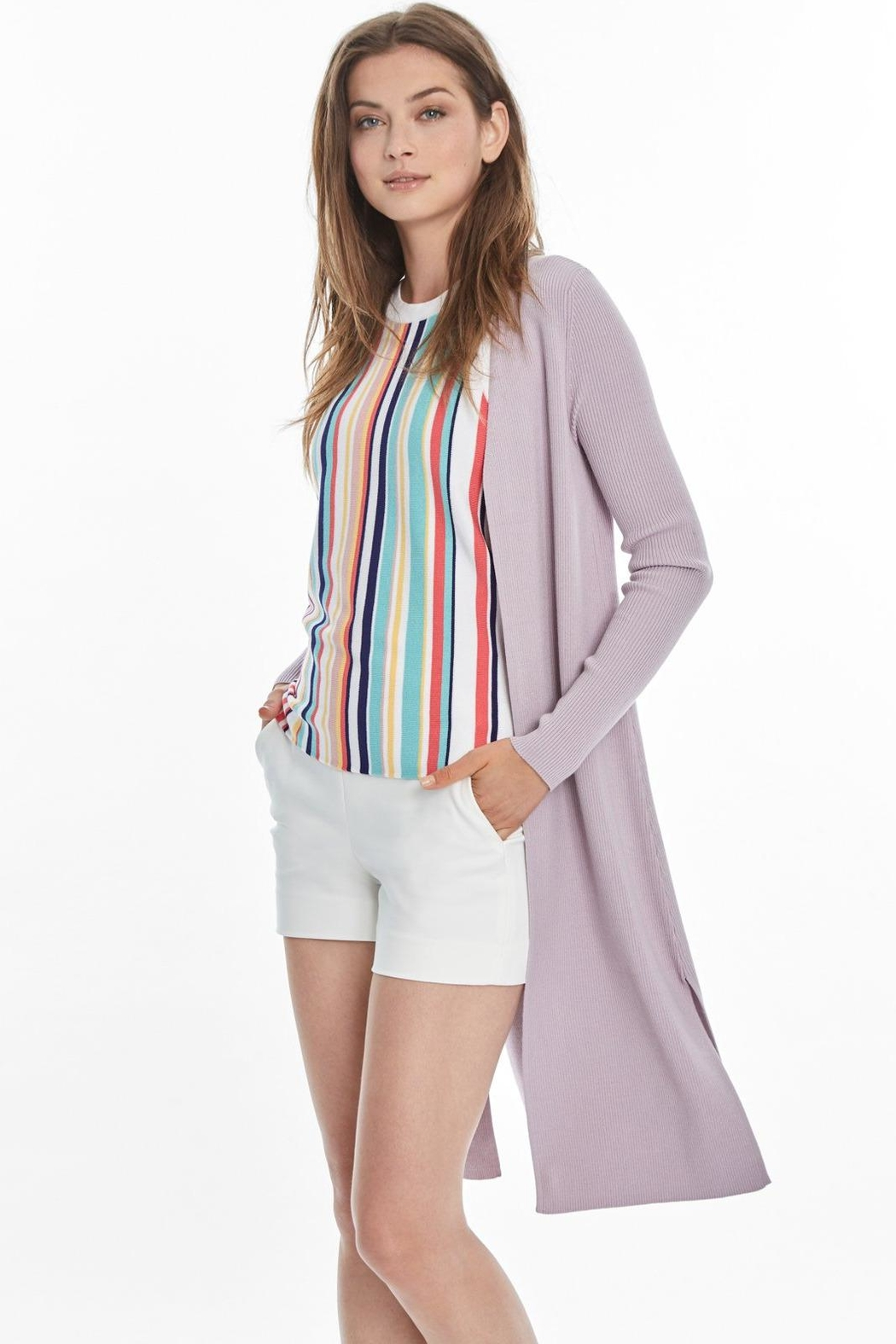 525 America Ribbed Duster Cardigan - Front Full Image