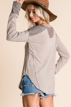 Ces Femme Ribbed Fabric Mix Match Top - Alternate List Image