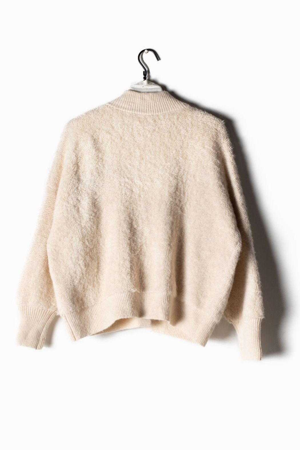Look Ribbed Fleece Ivory - Front Full Image