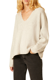 French Connection RIBBED FLOSSY V NECK SWEATER - Product Mini Image