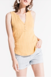 Others Follow  Ribbed Henley Tank - Product Mini Image