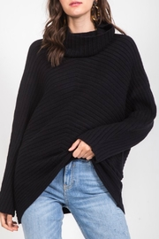 Very J Ribbed High Neck Sweater - Product Mini Image