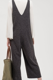 Blu Pepper Ribbed Jumpsuit - Front full body