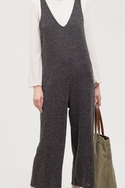 Blu Pepper Ribbed Jumpsuit - Front cropped