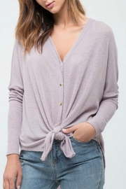 Blu Pepper Ribbed Knit Cardigan - Product Mini Image