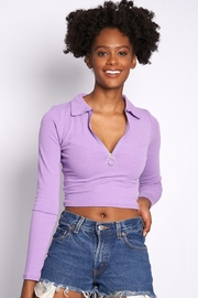 Better Be Ribbed Knit Collared Top - Product Mini Image