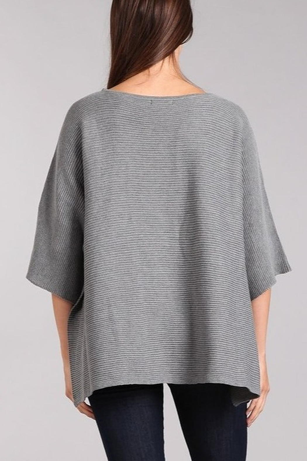 Blvd Ribbed Knit Dolman Sweater - Front Full Image