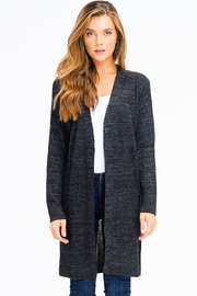 MONTREZ RIBBED KNIT DUSTER CARDIGAN - Front full body
