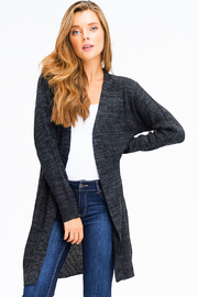 MONTREZ RIBBED KNIT DUSTER CARDIGAN - Front cropped