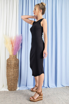 eesome Ribbed Knit Fitted Dress - Alternate List Image