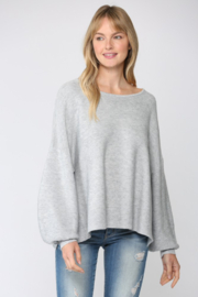 Fate Ribbed Knit Oversized Dolman Sweater - Front full body