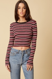 Cotton Candy LA Ribbed Knit Sweater - Front cropped