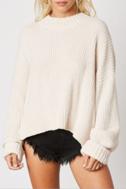 Cotton Candy Ribbed Knit Sweater - Product Mini Image