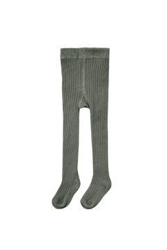 Rylee & Cru Ribbed Knit Tights - Forest - Alternate List Image