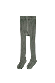 Rylee & Cru Ribbed Knit Tights - Forest - Product Mini Image