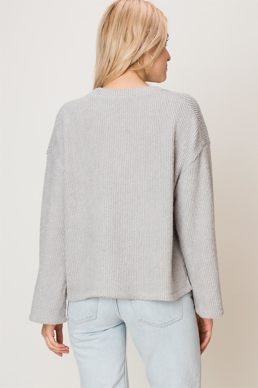 HYFVE Ribbed Knit Top - Front Full Image