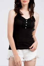 POL Ribbed Lace-Trim Cami - Product Mini Image