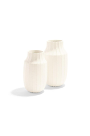 Two's Company Ribbed Linen Textured Vase-S - Product Mini Image