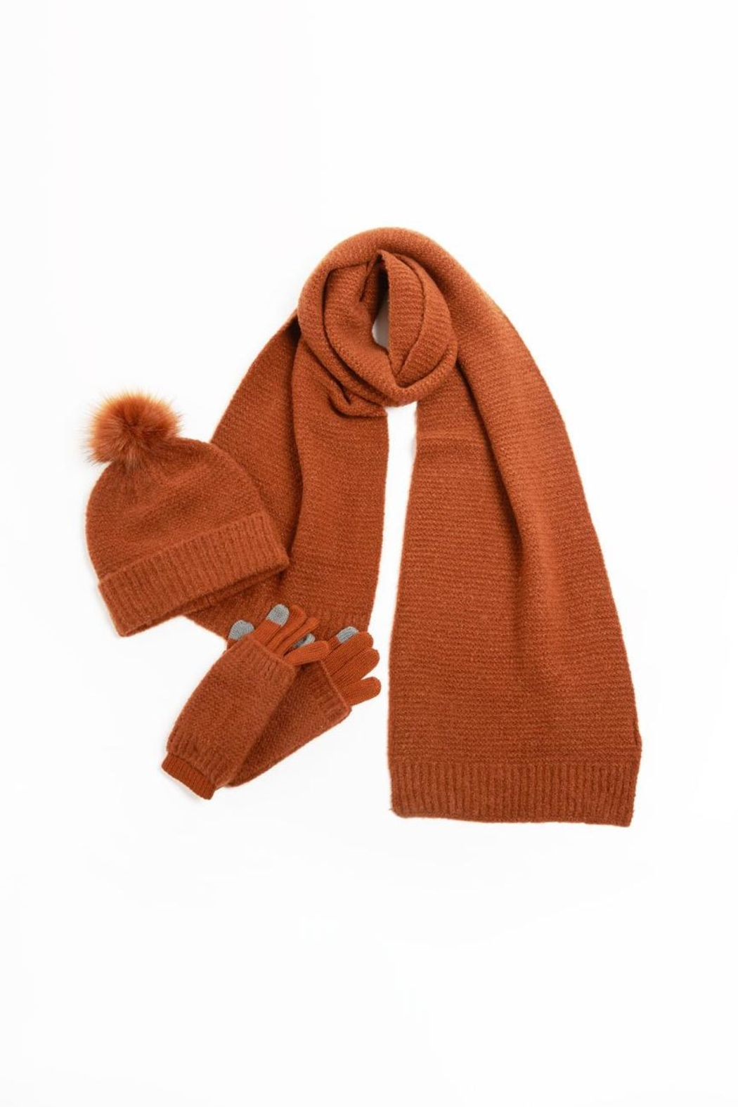 Look by M Ribbed Long Scarf - Main Image