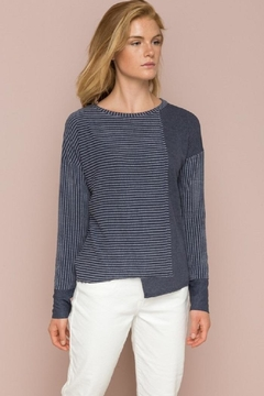 Hem & Thread Ribbed Mixed Top - Product List Image