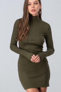 Shoptiques Product: Ribbed Mock Neck Dress