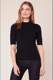 BB Dakota Ribbed Mock Neck Top - Product Mini Image