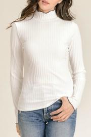 Hem & Thread Ribbed Mock Turtle-Neck - Product Mini Image