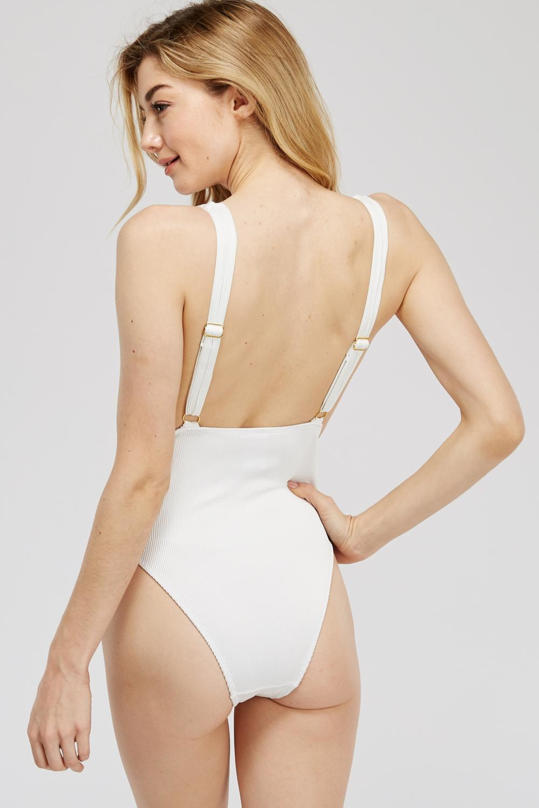 beach joy Ribbed One-Piece Bathing-Suit - Side Cropped Image