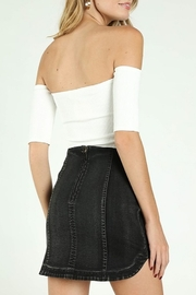Wild Honey Ribbed OTS Crop Top - Front full body