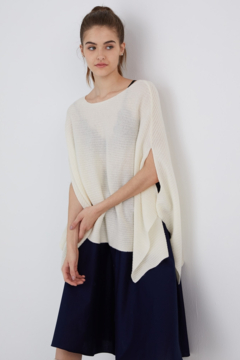 Revive Cashmere Ribbed Poncho - Product List Image