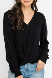 Lush Ribbed Pullover Top - Product Mini Image