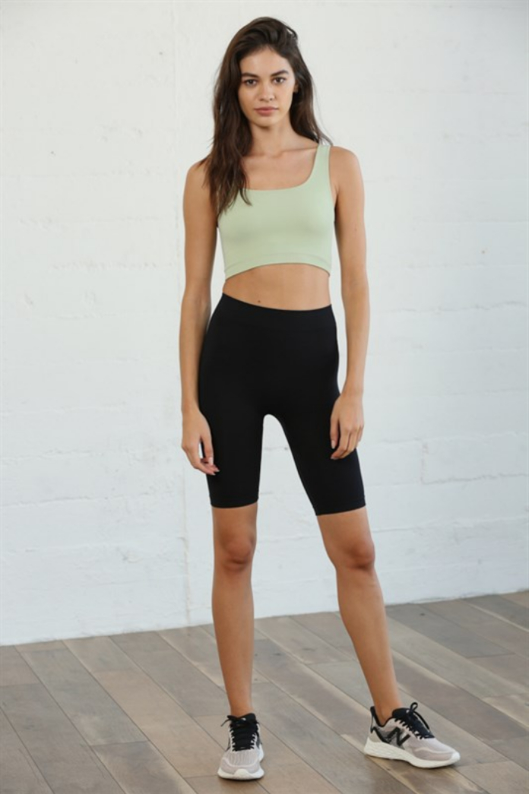 By Together Ribbed Short Tank Top - Front Cropped Image