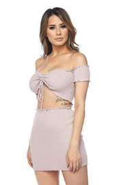 Hot & Delicious Ribbed Skirt Set - Front full body