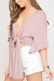 She & Sky  Ribbed Spring Cardi - Front cropped