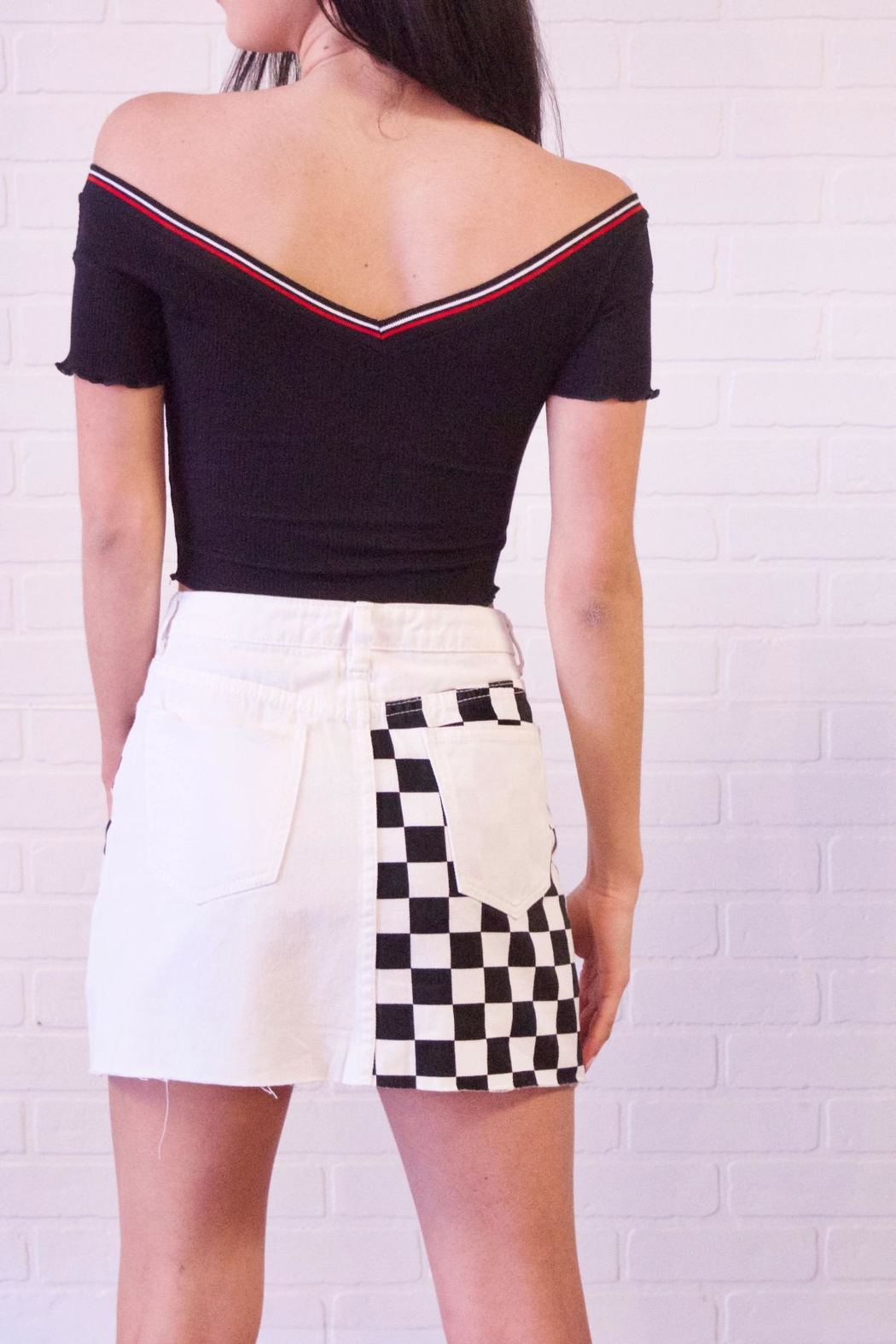 Better Be Ribbed Stripe Top - Side Cropped Image